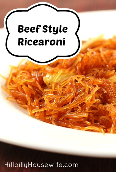 Plate of homemade Ricearoni