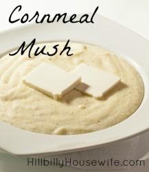 Bowl of Cornmeal Mush - Filling Frugal Breakfast