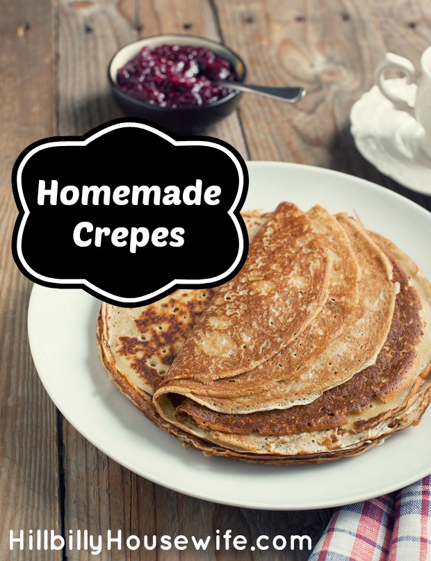 Plate of delicious homemade crepes
