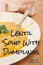 Lentil Soup With Dumplings