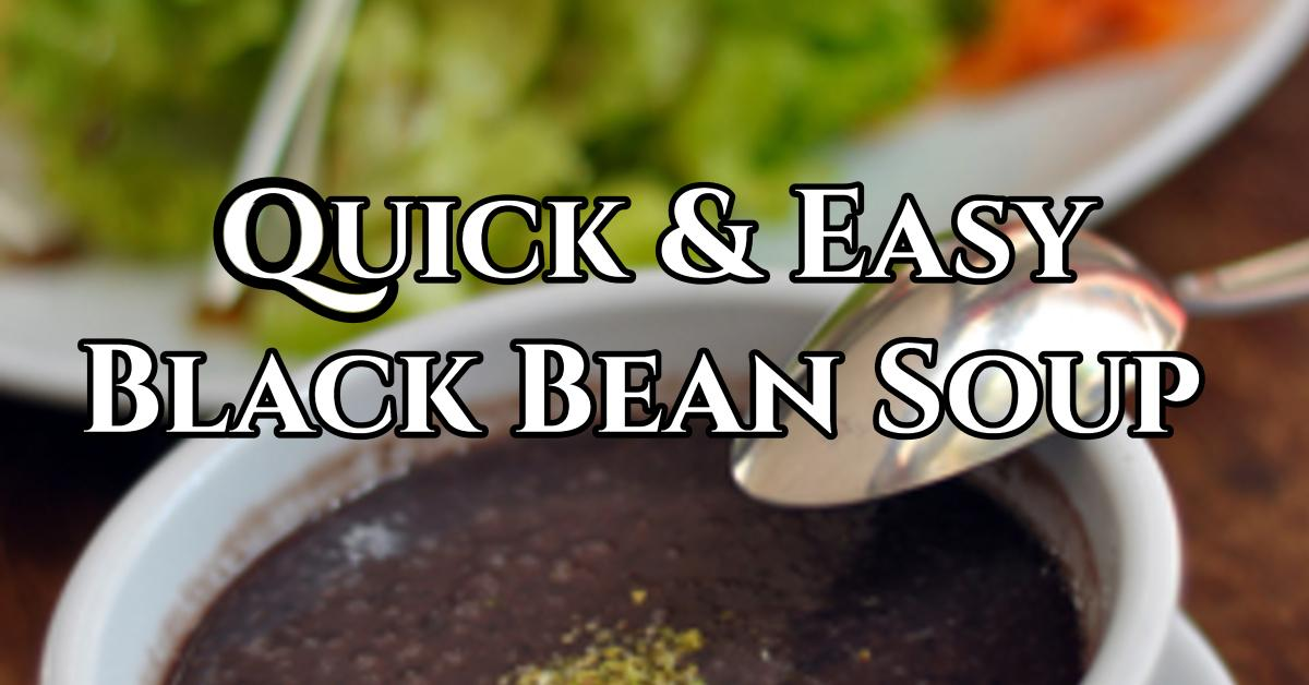 A simple black bean soup