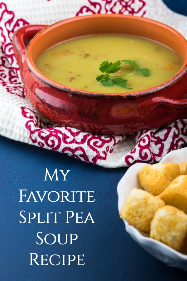 A simple bowl of delicious split pea soup