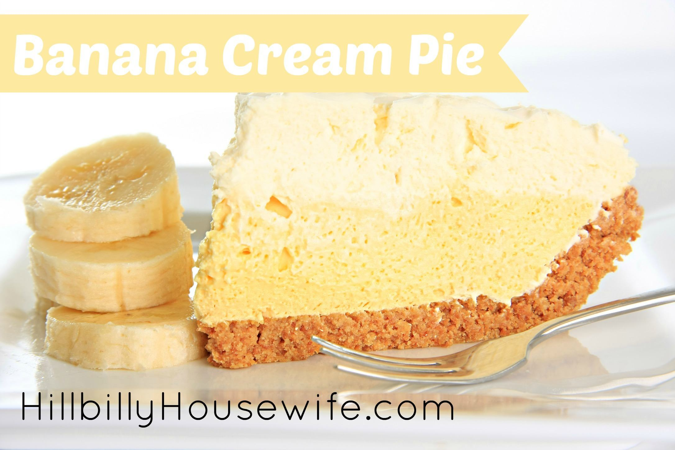 Banana Cream Pie Recipe | Hillbilly Housewife