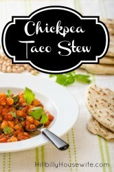 Turn a can of chickpeas and some leftover taco meat into a delicious and filing stew.