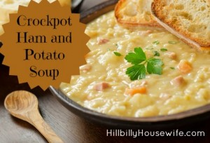 Ham and Potato Soup Cooked in the Crockpot