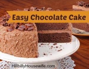 Chocolate Cake Hillbilly Housewife