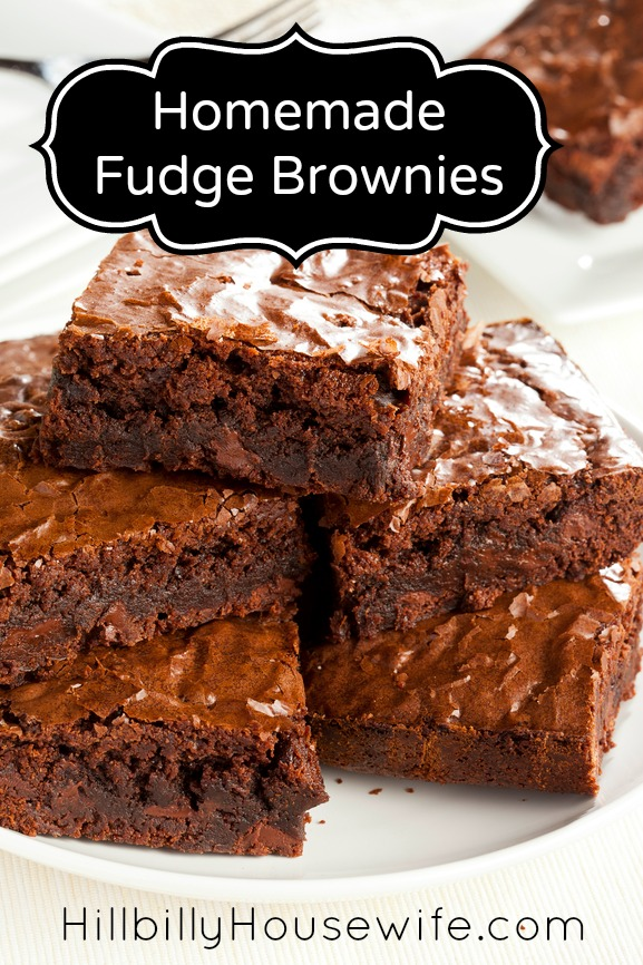 Fudge Brownies Hillbilly Housewife