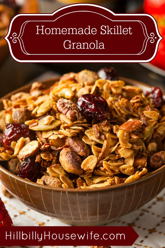 Simple Granola made in a Skillet