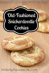 These old-fashioned snicker-doodle cookies are my daughter's favorite.