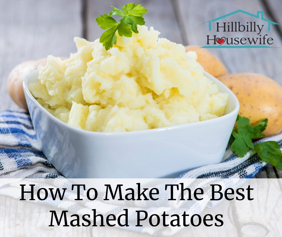 An easy recipe for real, made from scratch mashed potatoes.