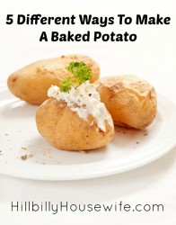 Plate of baked potatoes