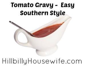Delicious southern style tomato gravy.