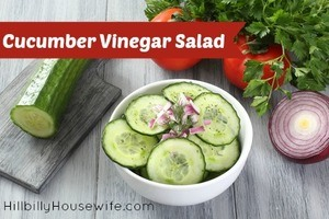 Cucumber Salad with Vinegar and Onion