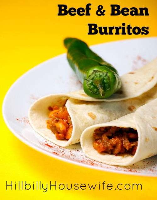 Simple Beef and Bean Burritos - Quick and Easy Weeknight Dinner