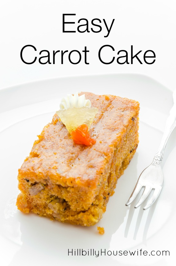 Carrot Cake Using Box Mix