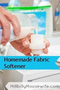 Recipe for inexpensive homemade fabric softener