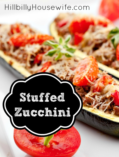 Plate of stuffed zucchini