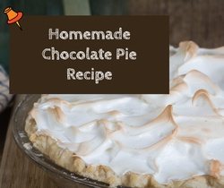 Homemade chocolate pie with meringue topping