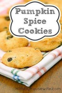 A simple recipe for pumpkin spice cookies made from a cake mix.
