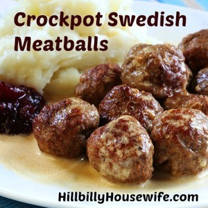 Swedish meatballs with mashed potato and lingonberry.