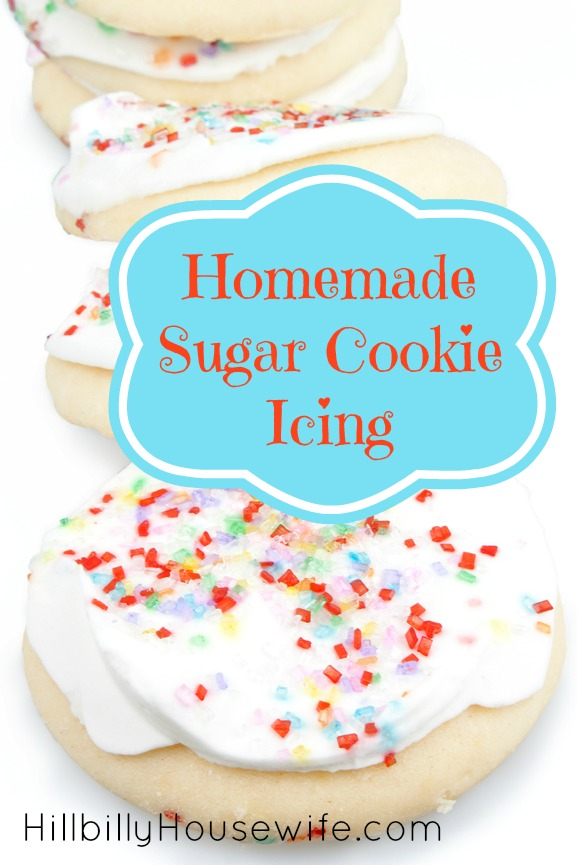 Homemade Sugar Cookie Icing | Hillbilly Housewife