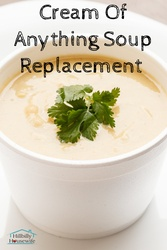 A simple recipe to make a white sauce or thickener to replace cream soups