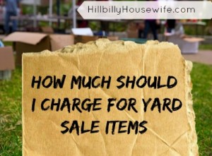 How much should I charge for my yard sale items - a quick guide