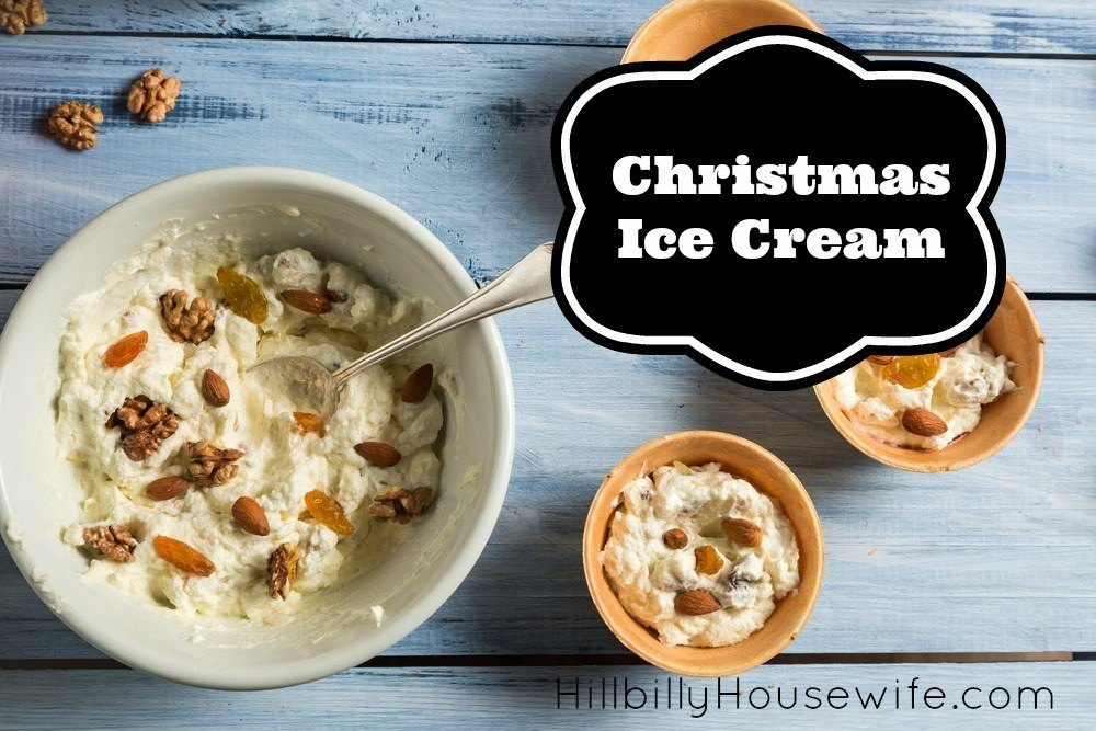 Looking for a fun Christmas dessert? Look no further than this yummy and easy to make ice cream. Made with dried fruit (and nuts if you like). Tasty and festive.