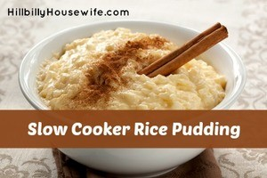 Crockpot Rice Pudding
