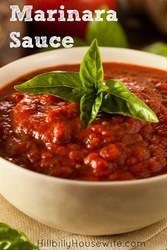A simple recipe for homemade marinara sauce.