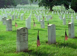 Memorial Day Flags At Arlington National Cemetery