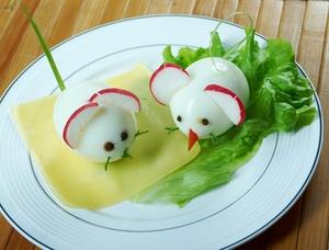 Hard Boiled Egg Mice