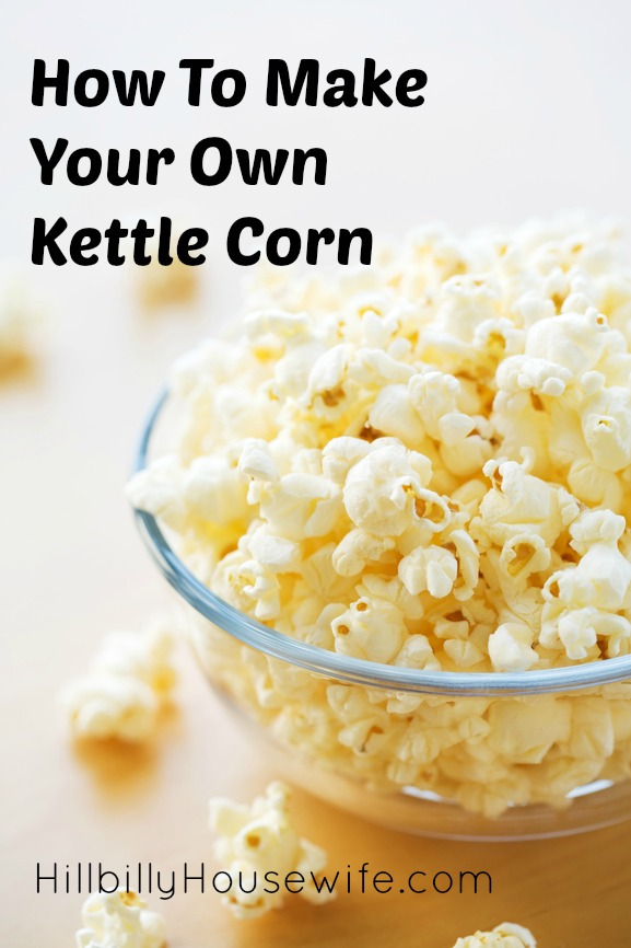 Bowl of homemade kettle corn