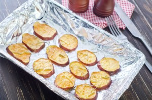 Sweet Potato Slices With Rosemary