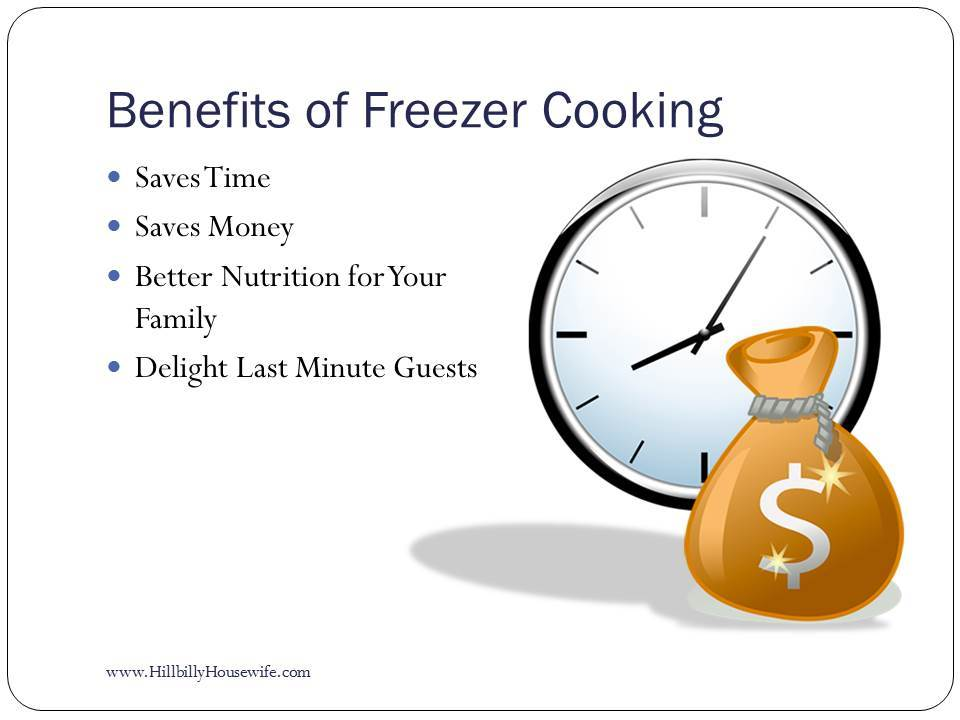 Benefits of Freezer Cooking