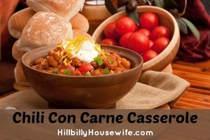 Home Made Bowl Of Chili Con Carne Casserole