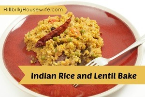 Indian Rice and Lentil Bake