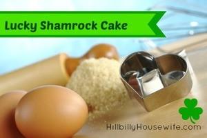 Lucky Shamrock Cake