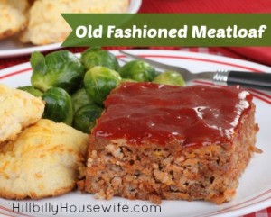 Old fashioned meatloaf recipe