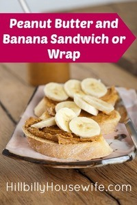 Small sandwiches with peanut butter and banana