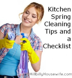 Spring cleaning tips and checklist for your kitchen.