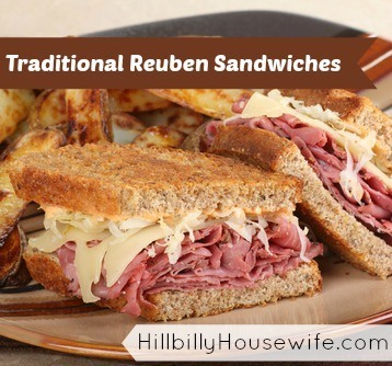 Traditional Reuben Sandwiches | Hillbilly Housewife