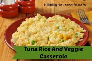 Tuna  rice casserole with vegetables