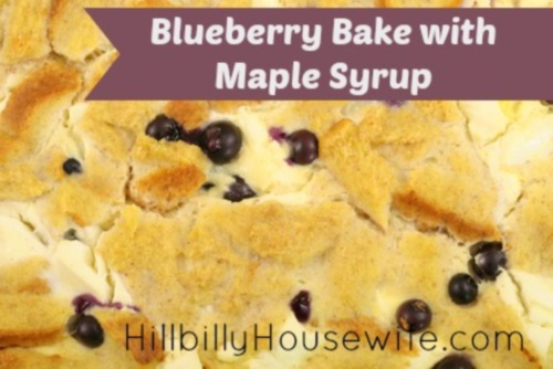 Blueberry French Toast with Syrup