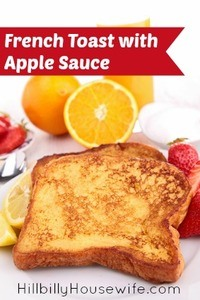 French Toast with Apple Sauce