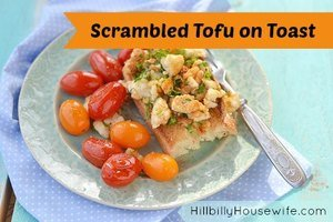 Scrambled Tofu on Toast for Breakfast