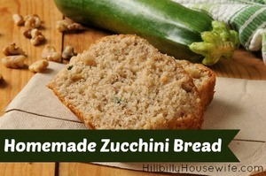 Sliced zucchini bread with walnuts