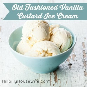 Old Fashioned Vanilla Ice Cream
