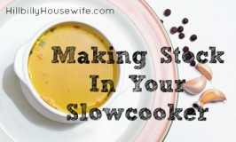 Making Chicken Stock in the Crockpot