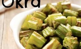 Okra pan fried in coconut oil